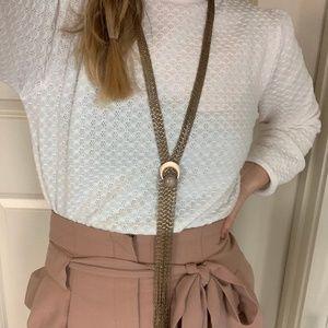 Free People Rose Quartz Necklace